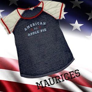MAURICES Super soft graphic t-shirt sz L